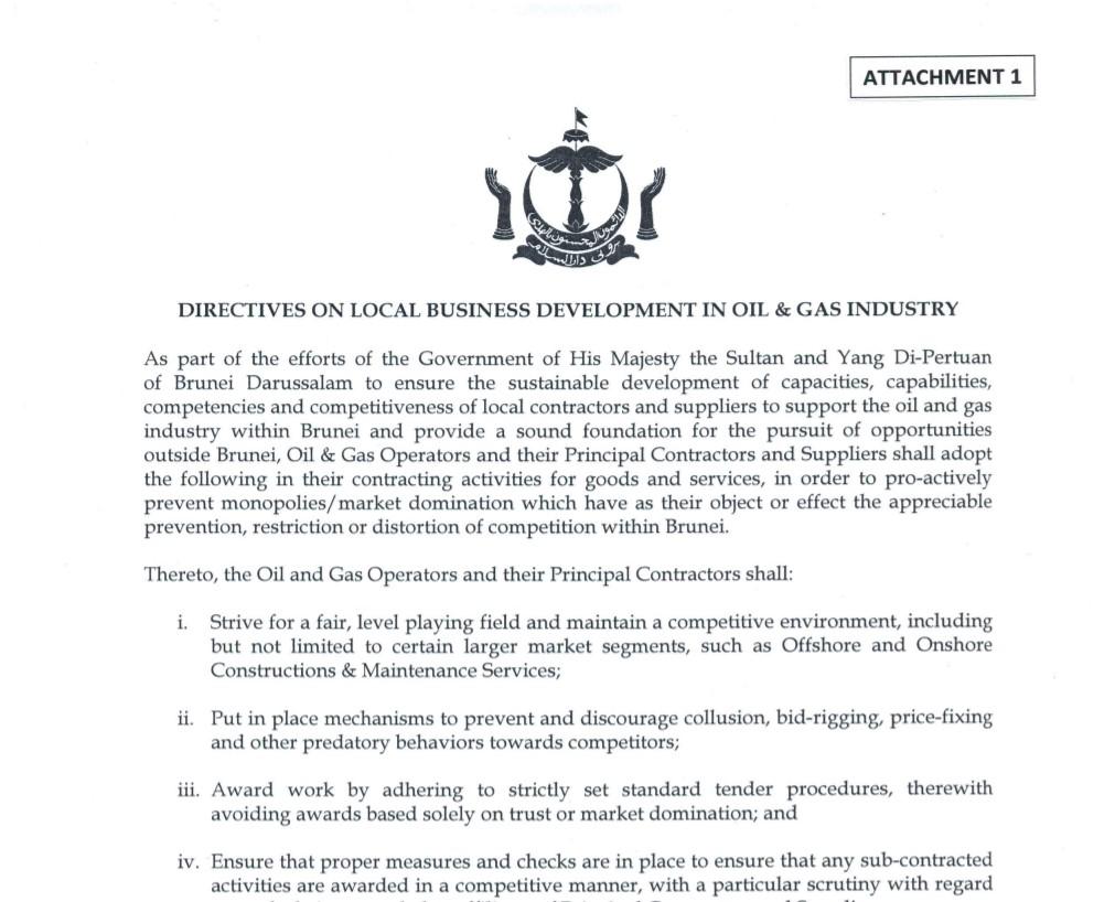 directive 1